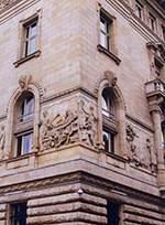 Внушительное здание Венгерского национального банка