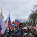 Около 2 тыс. активистов вышли на митинг «Он нам не царь» в Петербурге (видео)